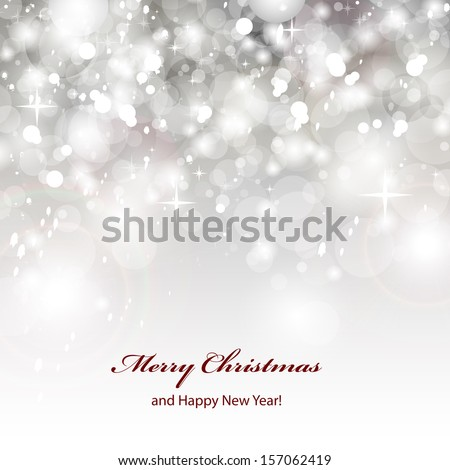 Silver Festive Christmas Background - Vector Illustration, Graphic Design Useful For Your Design - stock vector
