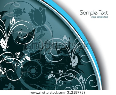 Silver Floral Background. - stock vector