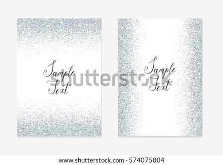Silver glitter invitation design card sparkle stock vector hd silver glitter invitation design card sparkle stock vector hd royalty free 574075804 shutterstock stopboris Images
