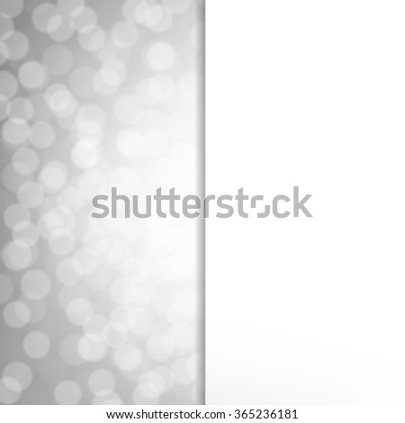 Silver Glitter Poster With Gradient Mesh, Vector Illustration - stock vector
