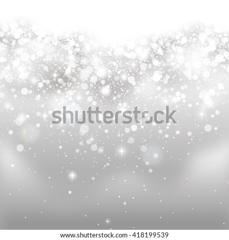 silver glittering background - stock vector