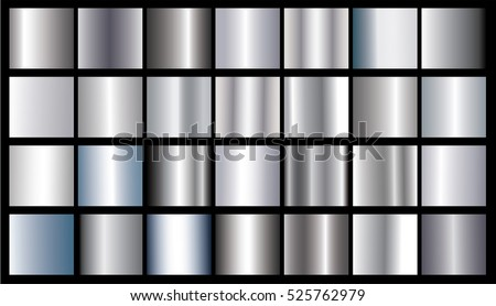 Silver gradient texture background vector icon. Seamless pattern realistic silver metallic gradient illustration. Silver design texture background. Vector design for ribbon, label, frame, abstract