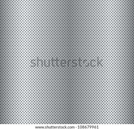 silver grill background - stock vector