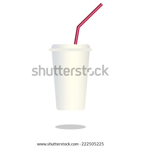 silver ice coffee cup : logo vector