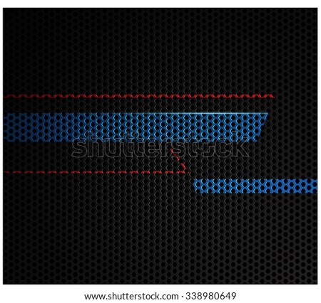 Silver metallic grid background. - stock vector