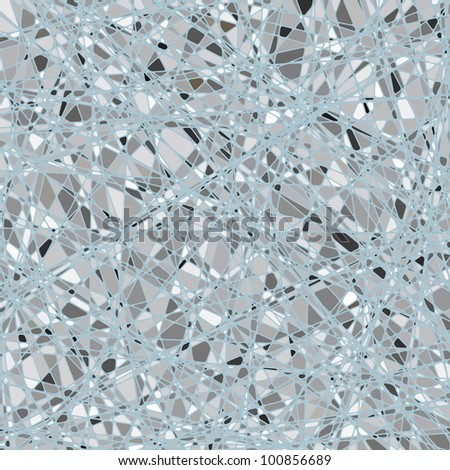 Silver mosaic background. EPS 8 vector file included - stock vector