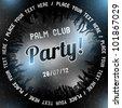 Silver Party flyer vector template - stock vector