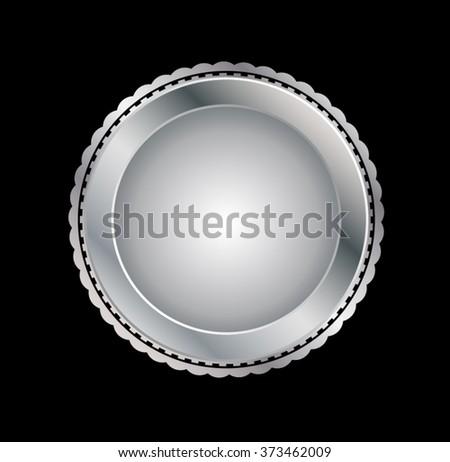 Silver Seal . Vector Silver Seal . Stamp Silver Seal . Metal Silver Seal . Golden Silver Seal . Medal Silver Seal . Emblem Silver Seal . Badge Silver Seal . Label Silver Seal . - stock vector