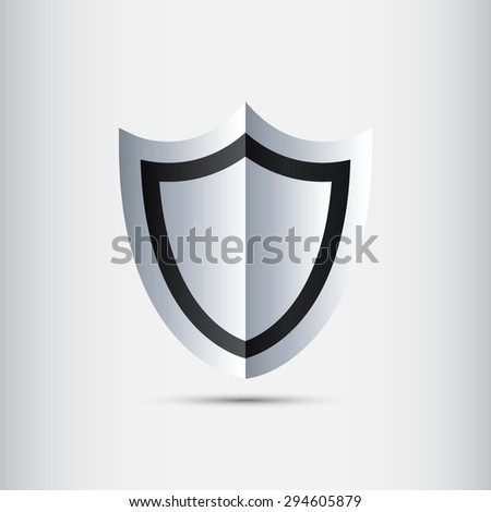 Silver Shield - stock vector