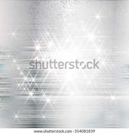 Silver . Silver Christmas Background Texture . Silver Glitter Texture . Silver Sparkles Background . Silver Painted Banner . Silver Shiny Wallpaper . Silver Metal Surface . Vector . - stock vector