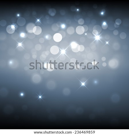 Silver sparkle glitter background. Sparkling flow background - stock vector