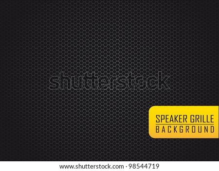 silver speaker grille over black background. vector illustration - stock vector