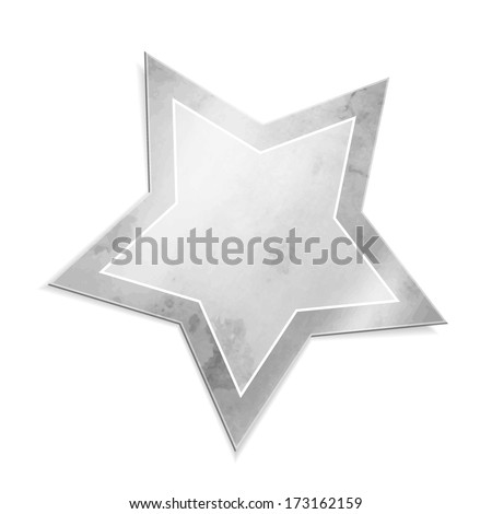 Silver star - stock vector