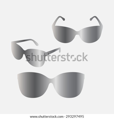 Silver Sunglasses icon, vector illustration
