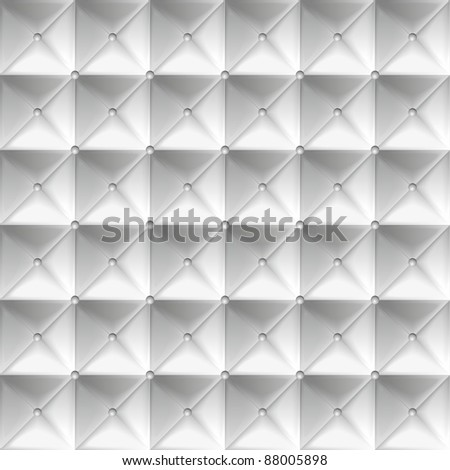 Silver upholstery with buttons. A vector background. - stock vector