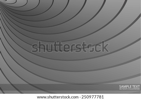 Silver vector abstract curved lines design background illustration - Vector abstract template modern design metal illustration - stock vector