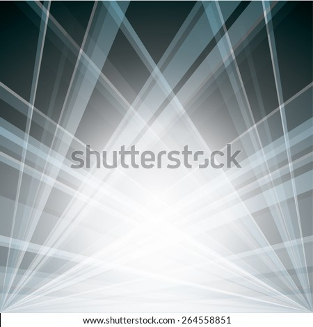 Silver Vector Background with light rays.