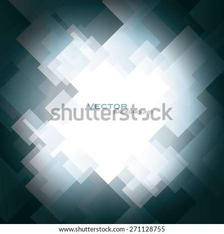 Silver Vector Background with Shiny Squares. - stock vector