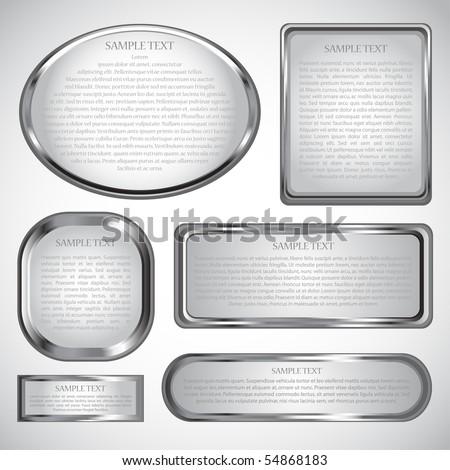 Silver vector label - stock vector