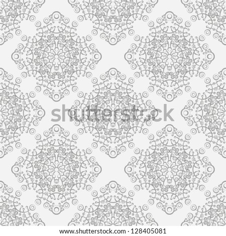 Silver vintage seamless pattern. - stock vector