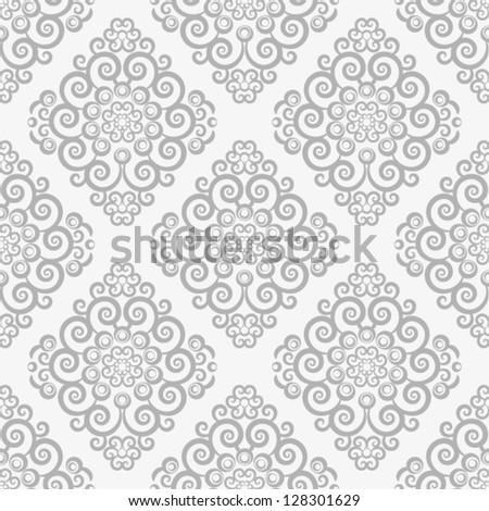 Silver vintage seamless wallpaper - stock vector