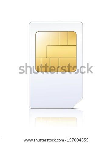 SIM Card - stock vector