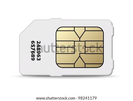 Sim card icon. Vector - stock vector