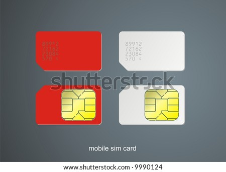 Sim card, vector illustration. - stock vector
