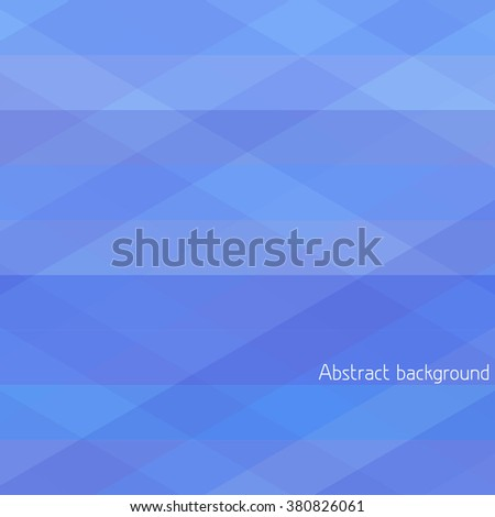 Simple abstract geometrical background with blue horizontal and diagonal stripes. Vector graphic pattern - stock vector