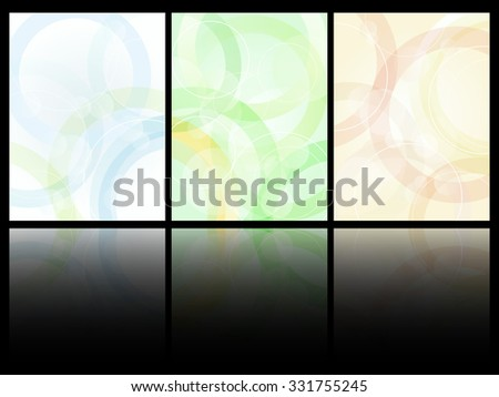 Simple abstract pattern card design vector template. - stock vector