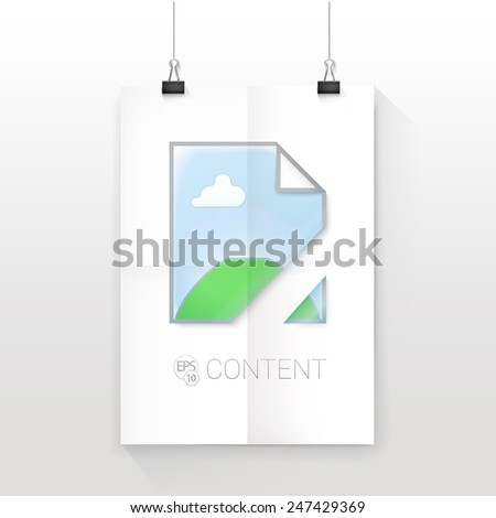 "Simple Adjustable Composition of an Abstract ""Load Error Icon"" Illustration on an A4 Paper Sheet Mock Up - stock vector"