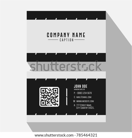 Simple effective black white minimal business stock vector royalty simple and effective black and white minimal business card colourmoves