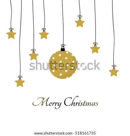 Simple and elegant card for Merry Christmas