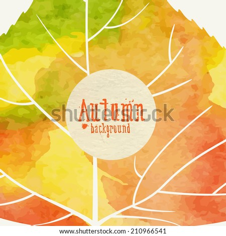 Simple Autumn Background.  Vector Illustration. Eps 10 - stock vector