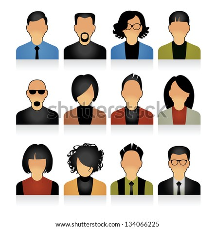 Simple People Icons images