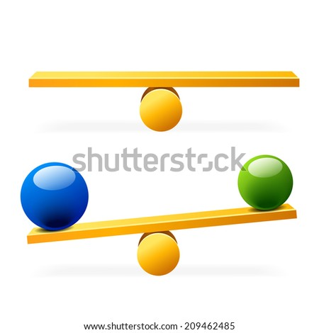 simple balance - stock vector