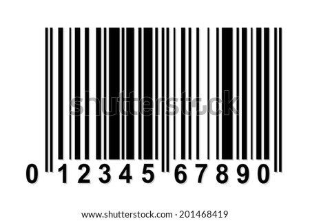 Simple barcode with fake numbers - stock vector