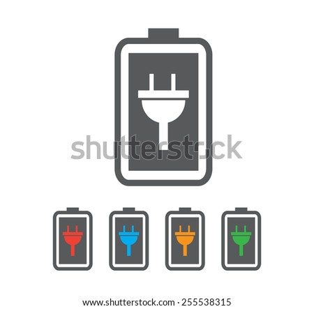 Simple battery icon - stock vector