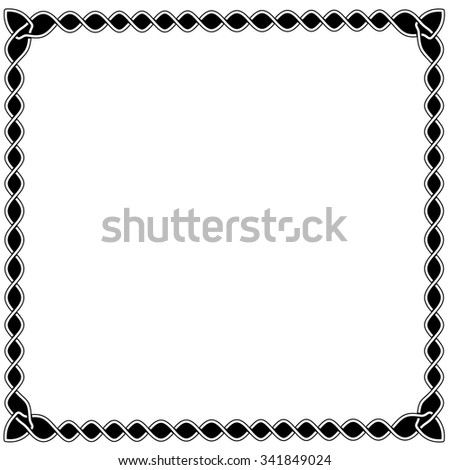 Simple Black White Frame Celtic Arabic Stock Photo (Photo, Vector ...