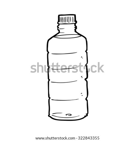 Plastic Bottle Drinking Water Cartoon Vector Stock Vector ...