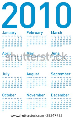Calendar 2010 Stock Images, Royalty-Free Images & Vectors ...