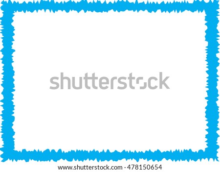 Simple Blue Frame Stock Vector 478150654