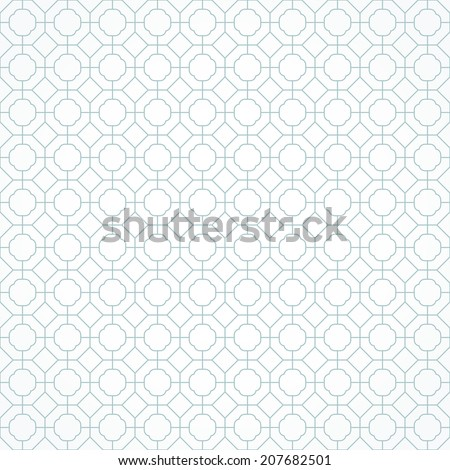 Simple blue pattern. Geometric pattern, seamless. - stock vector