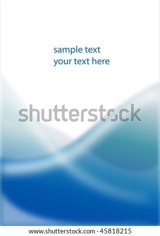 simple blue wave vector background - stock vector
