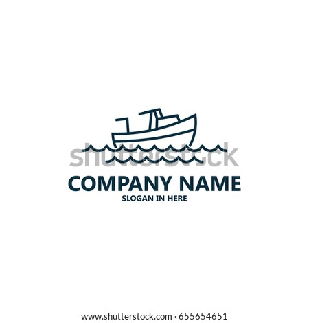 simple boat logo template design stock vector 655654651 shutterstock