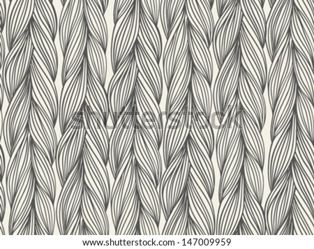 Simple, bold vector seamless pattern with stylized sweater fabric. Texture for web, print, wallpaper, fall winter fashion, textile design, website background, holiday home decor, wedding invitation - stock vector