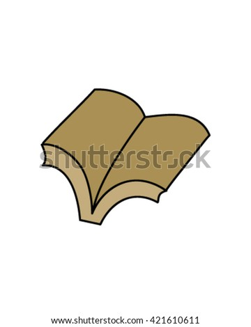 Simple book drawing vector art