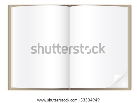 Simple book isolated on the white background - stock vector