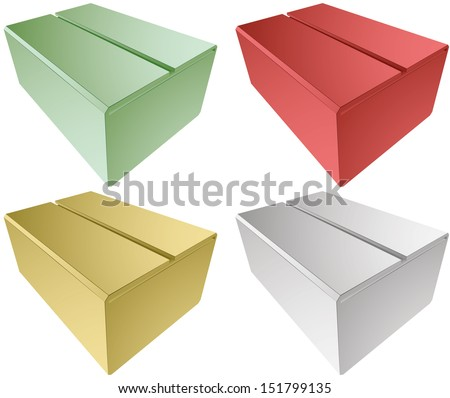 simple box simple vector illustration eps 10 abstract form  / simple box