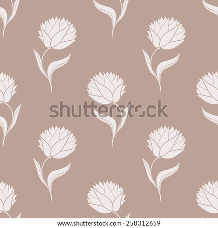 Simple brown pattern. Vector illustration - stock vector